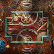 Steampunk - Pandora's Box Print by Mike Savad
