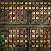 Steampunk - Phones - The Old Switch Board Print by Mike Savad