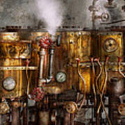 Steampunk - Plumbing - Distilation Apparatus  Print by Mike Savad