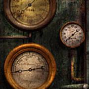 Steampunk - Plumbing - Gauging Success Print by Mike Savad