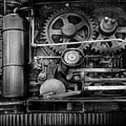 Steampunk - Serious Steel Print by Mike Savad