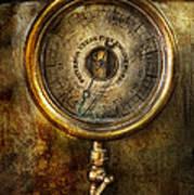Steampunk - The Pressure Gauge Print by Mike Savad