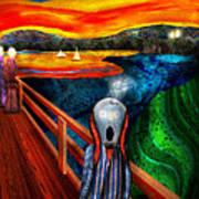 Steampunk - The Scream Print by Mike Savad