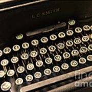 Steampunk - Typewriter - The Age Of Industry Print by Paul Ward