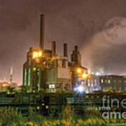 Steel Mill At Night Print by Juli Scalzi