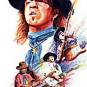 Stevie Ray Vaughn Print by Ken Meyer jr