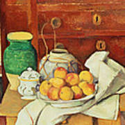 Still Life With A Chest Of Drawers Print by Paul Cezanne