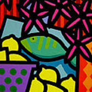 Still Life With Fish Print by John  Nolan