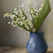 Still Life With Fresh Flowers Print by Jaroslaw Blaminsky