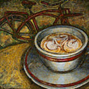 Still Life With Red Cruiser Bike Print by Mark Howard Jones