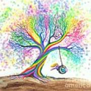 Still More Rainbow Tree Dreams Print by Nick Gustafson