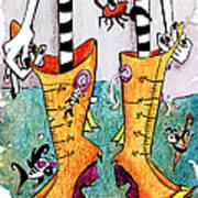 Stivali Acqua Alta - Children Book Illustration - Venezia Print by Arte Venezia