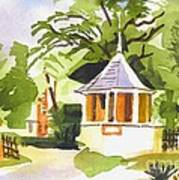 Stone Gazebo At The Maples Print by Kip DeVore