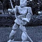 Stoneman In Cyan Print by Rob Hans