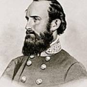 Stonewall Jackson Confederate General Portrait Print by Anonymous
