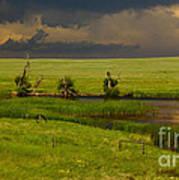 Storm Crossing Prairie 1 Print by Robert Frederick