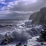 Storm Lifting At Gulliver's Hole Print by Marty Saccone
