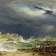 Storm Malta Print by John or Giovanni Schranz