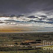 Storm Over Emmett Valley Print by Robert Bales