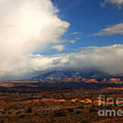 Storm Over The La Sals Print by Mike  Dawson