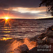 Stormy Sunrise Print by Michele Steffey