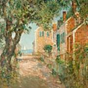 Street In Provincetown Print by  Childe Hassam