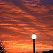 Streetlight Sunset Texas Print by Tony Ramos