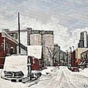 Streets Of Montreal Pointe St. Charles Print by Reb Frost