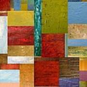 Strips And Pieces Lll Print by Michelle Calkins