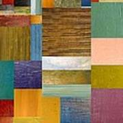 Strips And Pieces Lv Print by Michelle Calkins