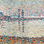 Study For The Channel At Gravelines Evening Print by Georges Pierre Seurat
