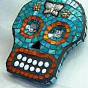 Sugar Skull Print by Jenny Bowman