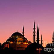 Suleymaniye Sundown 02 Print by Rick Piper Photography