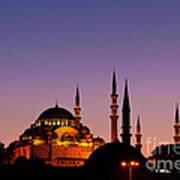 Suleymaniye Sundown 03 Print by Rick Piper Photography