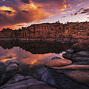 Summer Dells Sunset Print by Peter Coskun