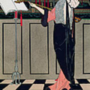 Summer Evening Wear From Art Gout Beaute Print by Georges Barbier