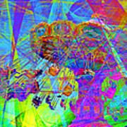 Summertime At Santa Cruz Beach Boardwalk 5d23905 Print by Wingsdomain Art and Photography