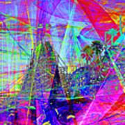 Summertime At Santa Cruz Beach Boardwalk 5d23930 Square Print by Wingsdomain Art and Photography