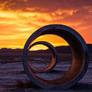 Sun Tunnels Print by Peter Irwindale