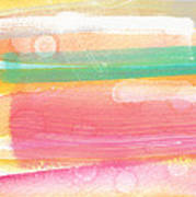 Sunday In The Park- Contemporary Abstract Painting Print by Linda Woods