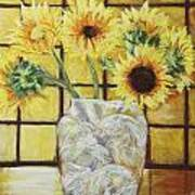 Sunflowers Print by Michael Crapser