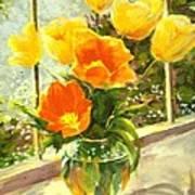 Sunlit Tulips Print by Madeleine Holzberg