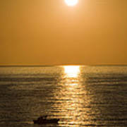 Sunrise Over The Mediterranean Print by Jim  Calarese