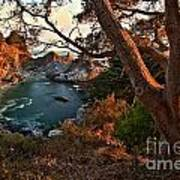 Sunset At Mcway Falls Print by Adam Jewell