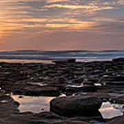 Sunset At The Tidepools IIi Print by Peter Tellone