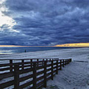 Sunset Boardwalk Print by Michael Thomas