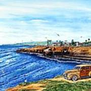 Sunset Cliffs Ocean Beach Print by John YATO