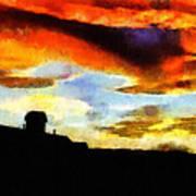 Sunset Colours Print by Ayse Deniz