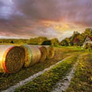 Sunset Farm Print by Debra and Dave Vanderlaan