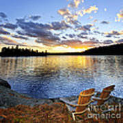 Sunset In Algonquin Park Print by Elena Elisseeva